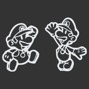 Super Mario és Luigi matrica kép