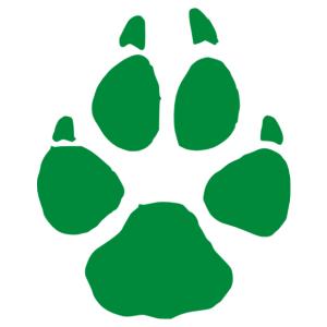 Szürkefarkas lábnyom (mancsnyom) matrica kép