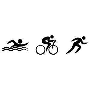 Triathlon matrica kép