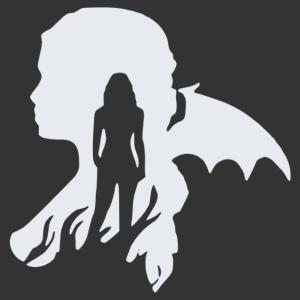 Trónok Harca - Daenerys sárkányos matrica kép