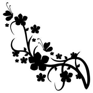 Virág motívum 03 matrica kép