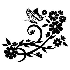 Virág motívum 04 matrica kép