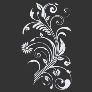 Virág motívum 05 matrica kép