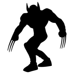 Wolverine - Rozsomák (X-men) sziluett matrica kép