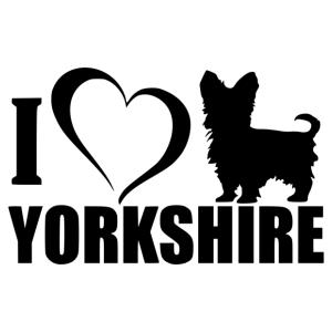 Yorkshire love matrica kép