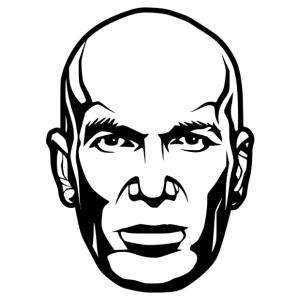 Zidane 01 matrica kép